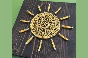 String art sun