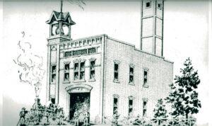 1.1886 First municipal building on Oak Street