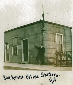 5.1886 Police Department located at the bottom of the Lawe Street Bridge.