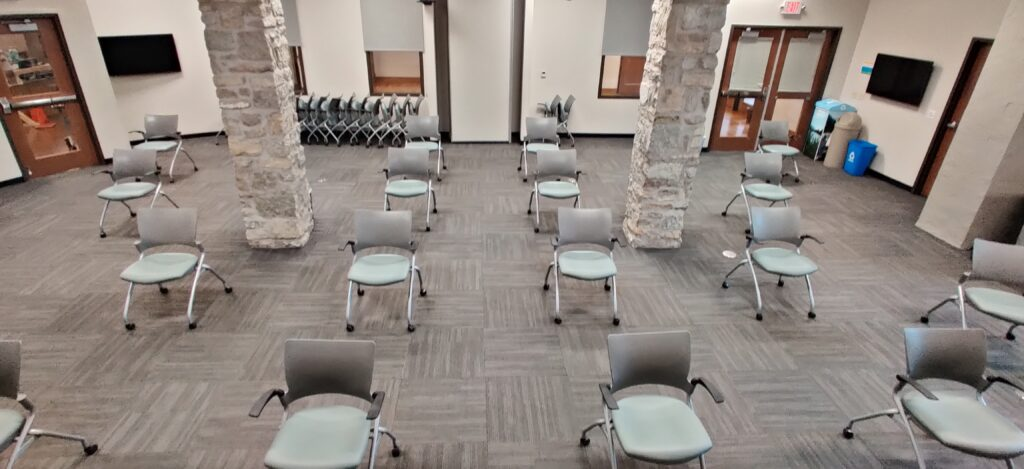 Only Chairs Meeting Room Setup
