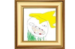 bad art in gallery frame